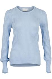 Loline Solid Knit Blouse