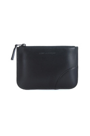 Black calf leather purse