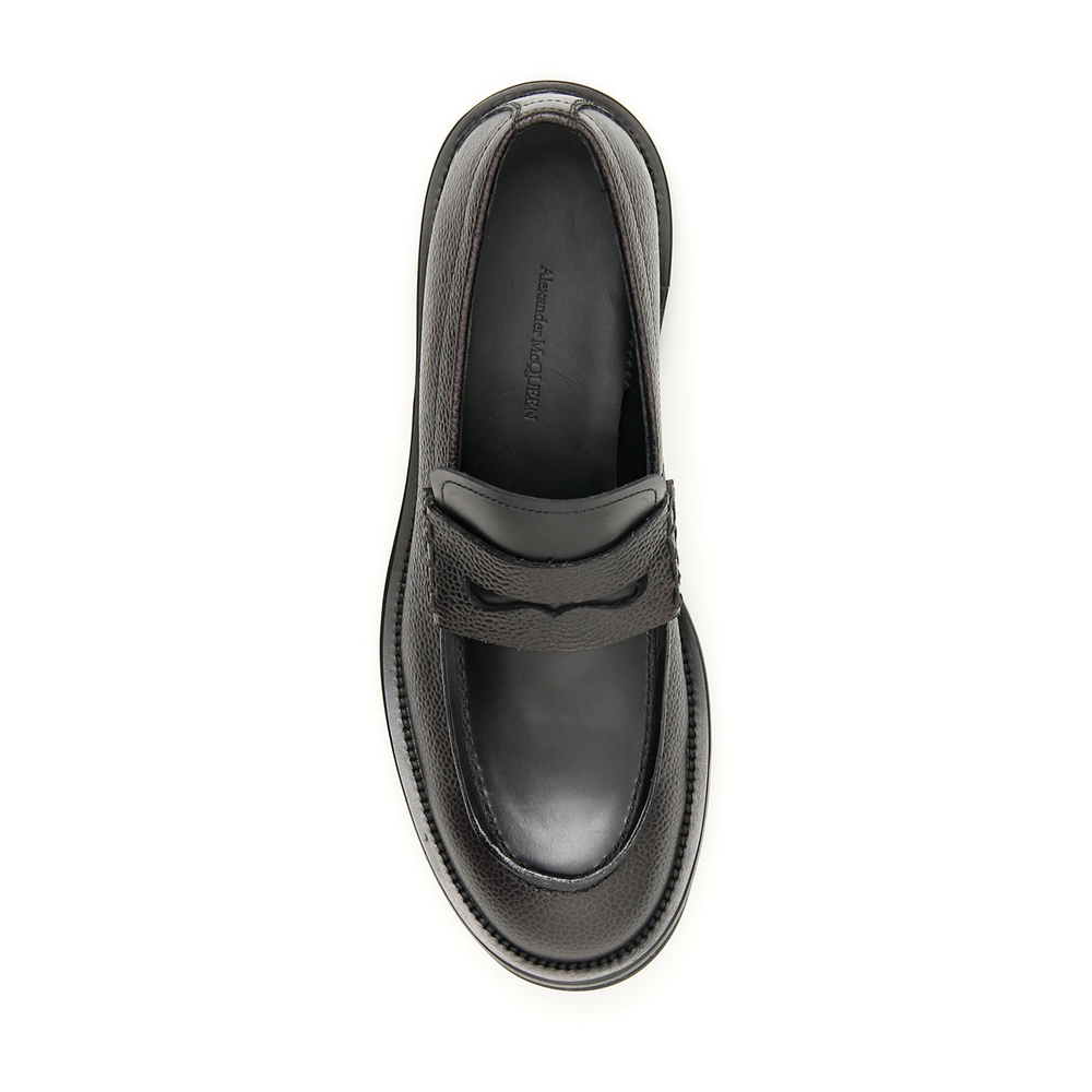Black Leather loafers | Alexander McQueen | Loafers | Men's shoes
