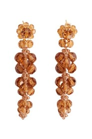 Cluster drip earring amber