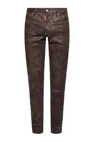 Distressed trousers