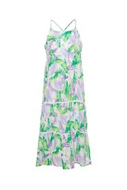 Maxi dress tropical leaf print