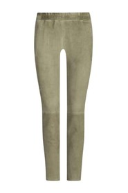 Chatou suede leather pants
