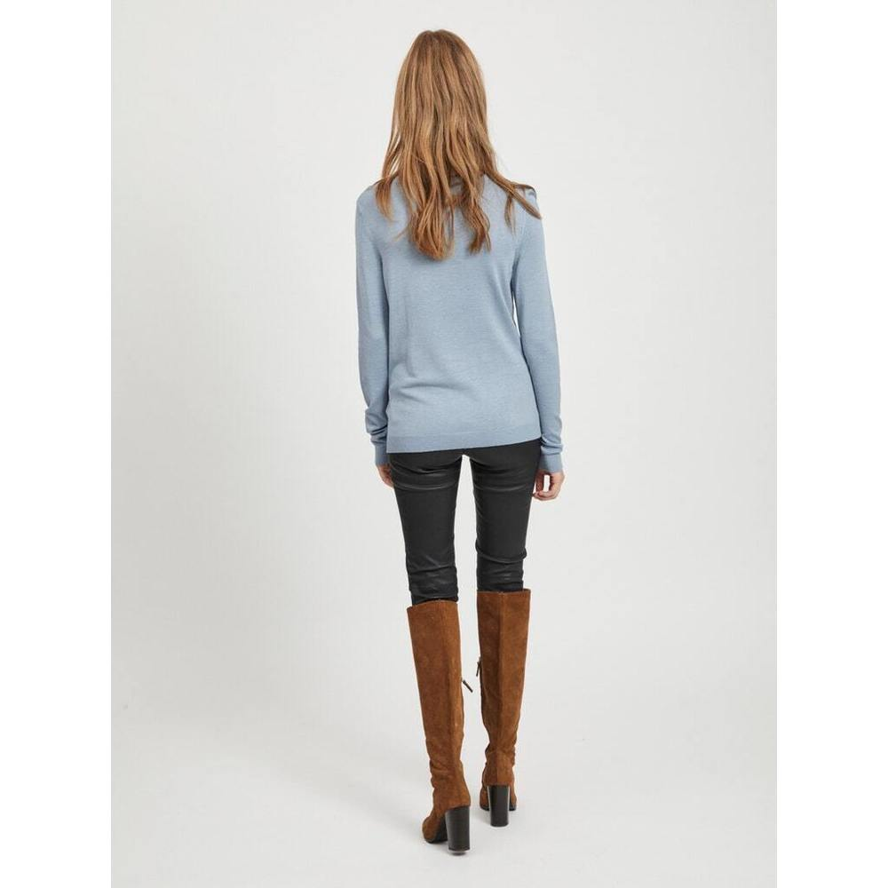 VILA ASHLEY BLUE VIBOLONIA KNIT L / S O-NECK TOP VILA