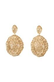 Dentelle Vintage gold plated dangling earrings