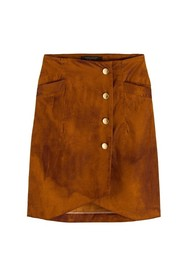 High waisted skirt in shiny curduroy quality
