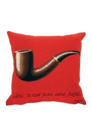 La Trahison des Images - Magritte - Pude med Fyld - 45x45cm