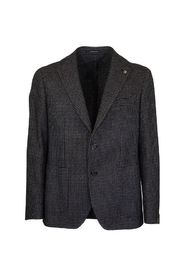 Two-button jacket with micro pattern blazer