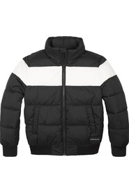 CALVIN KLEIN IB0IB00253 CLOUR BLOCK PUFFER JACKET AND JACKETS Unisex Boys BLACK