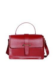 Geography leather satchel bag