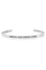 Armring med tekst - AMOUR LOVE AROHA LIEBE - 7222