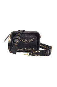 Charly python bag with eyelets and studs