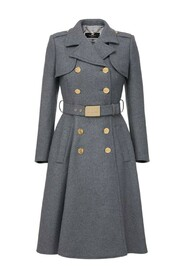Double-breasted military coat