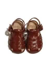 SPIDER LEATHER SANDAL WITH BUCKLE