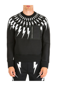 men's sweatshirt sweat  thunderbolt kim