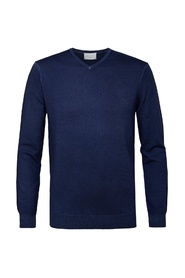 Indigo V-neck sweater PPRJ3C0028