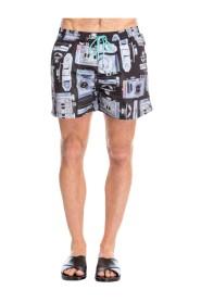Camera Print Swim Shorts