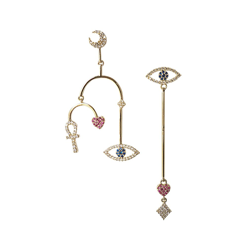 MOON AND EYE Earrings
