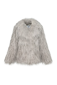 faux fur jacket with flaps