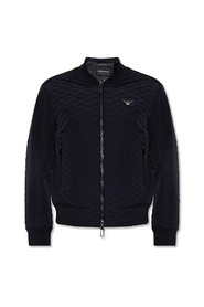 Quilted bomber jacket with logo