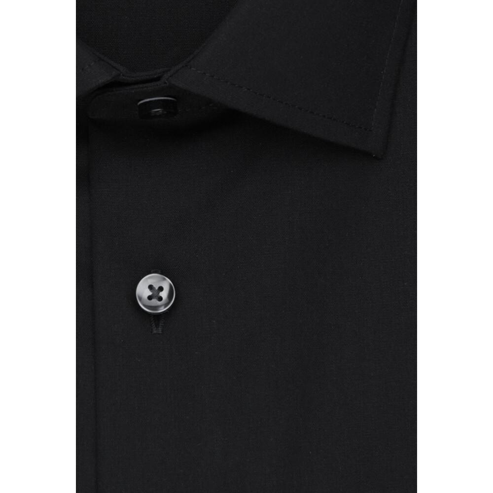Black Business Shirt Shaped | Seidensticker | Korte mouwen Overhemden | Herenkleding
