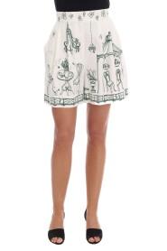 Sicily Motive Print Shorts