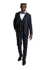 Three-Piece Striped Suit