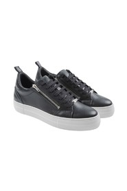 SNEAKERS- AM ZIPPER LACE UP CALF LEATHER