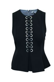 Sleeveless Top with Silver Eyelets