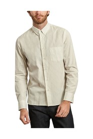 Cotton and wool striped branco shirt