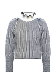 Turtleneck sweater with puff sleeves