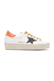 HI STAR LEATHER UPPER AND HEEL LEOPARD DENIM STAR