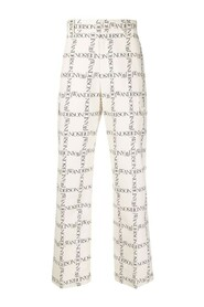 Signature-check trousers