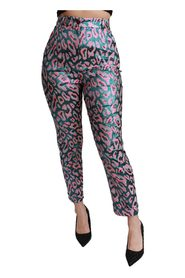 Patterned Cropped High Waist Pants
