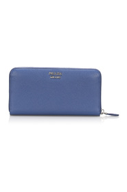 Saffiano Leather Long Wallet