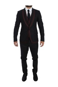 Striped 3 Piece Slim Suit Tuxedo