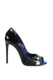 Pat Bluette court shoes in patent leather