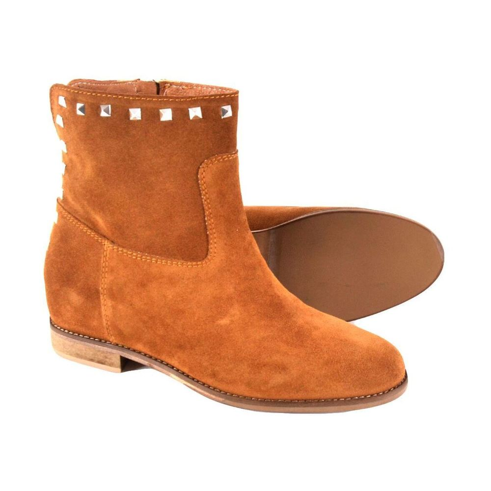 Keb Brown ankle boots with studs Keb