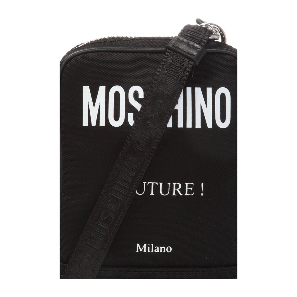 Black Logo-printed shoulder bag | Moschino | Schoudertassen | Herentassen