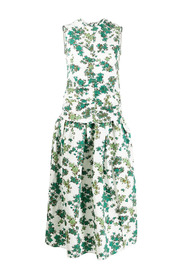 Ruched Front Dress In Ditsy Floral Print