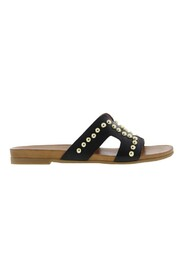 Mila 5-b leather slippers studs