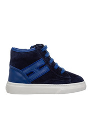 boys shoes child sneakers high top suede leather h340