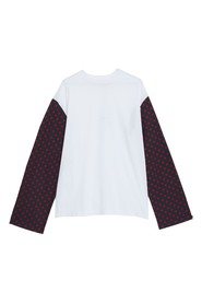 T-Shirt with Long Sleeves in Smiley Print