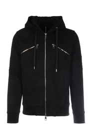 TRAVEL STRIPED KNITTED HOODIE