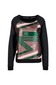 Marccain Sports -  KS 5509 W05 - Sweater met lurex-print