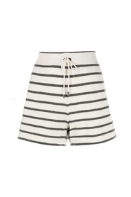 Striped cashmere shorts