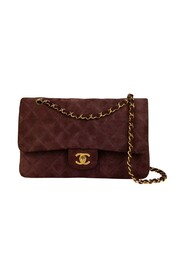 Pre-owned Medium Suede Classic Double Flap bag