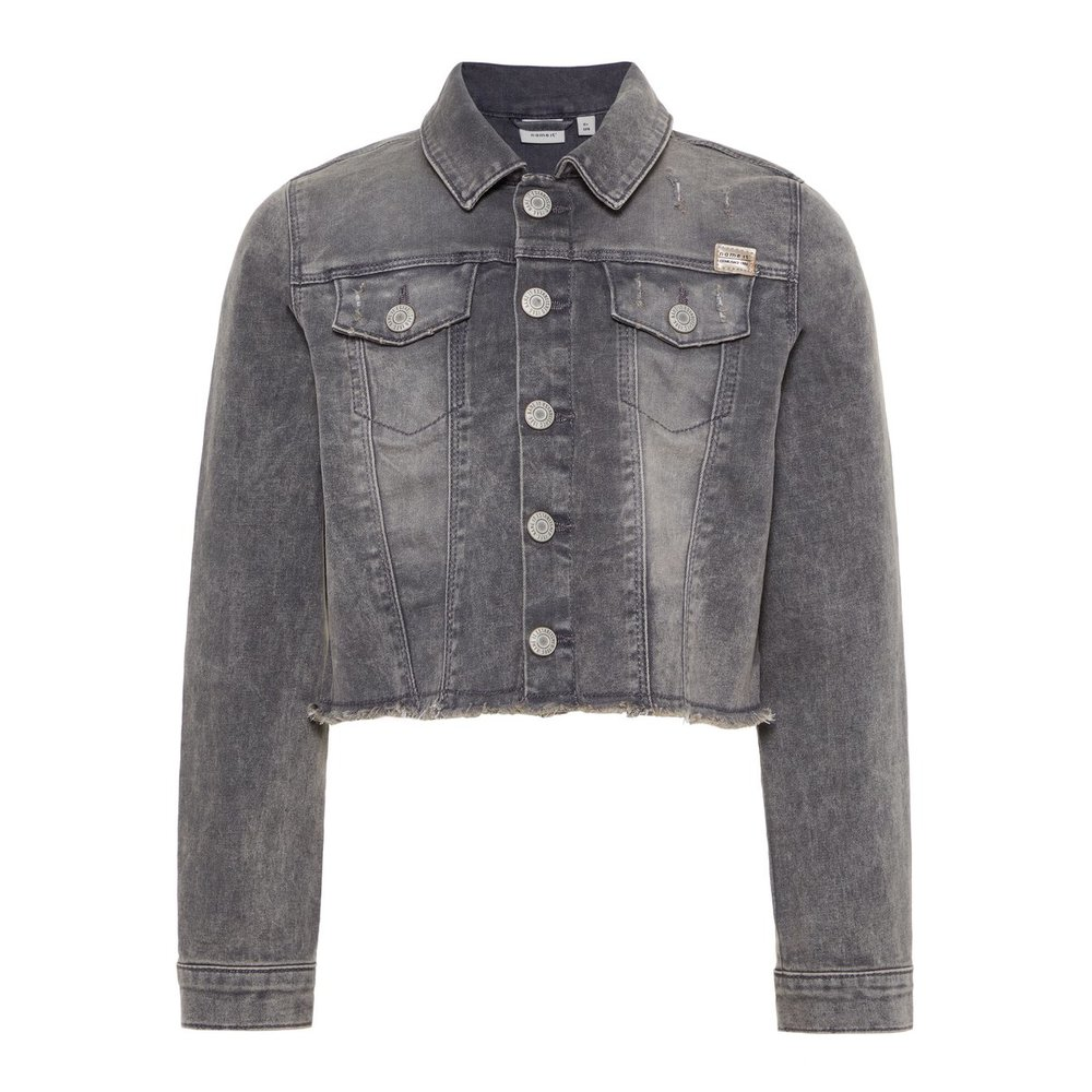 Denim jacket frayed