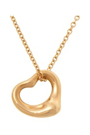 18K Elsa Peretti Open Heart Pendant Necklace