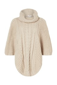 Cabel Knit Poncho Acc Scarves Heavyweight